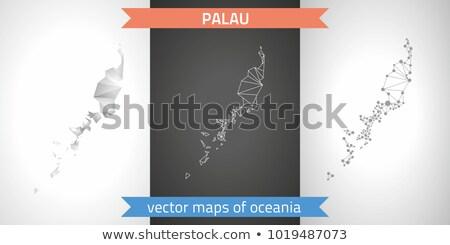 Mapa república Palau ponto padrão vetor Foto stock © Istanbul2009