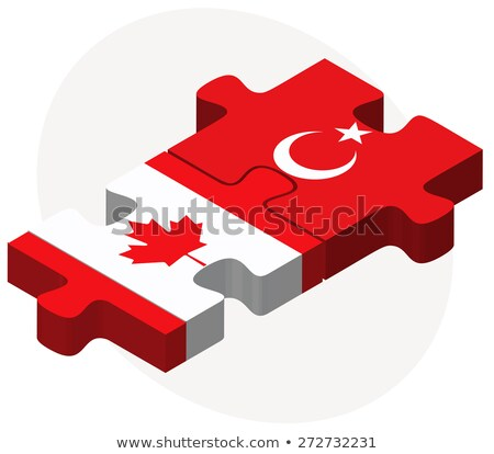 canada and turkey flags in puzzle stock photo © istanbul2009