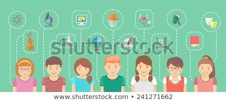 Genius Girl Interests Conceptual Infographics Stock photo © vectorikart