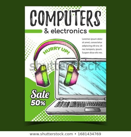 Studio computer vector foto Stockfoto © beaubelle