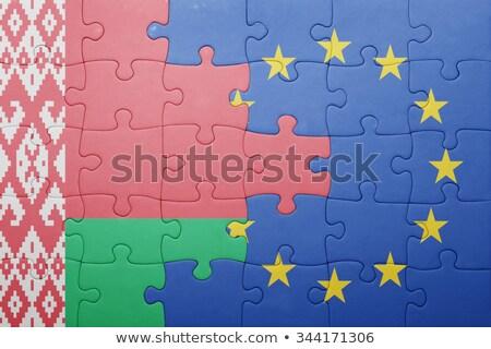 ヨーロッパの 組合 ベラルーシ フラグ パズル ベクトル ストックフォト © Istanbul2009