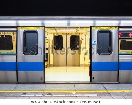 Yeraltı metro kapılar içinde görmek Stok fotoğraf © caimacanul