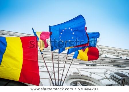 Européenne Union Roumanie drapeaux puzzle isolé Photo stock © Istanbul2009