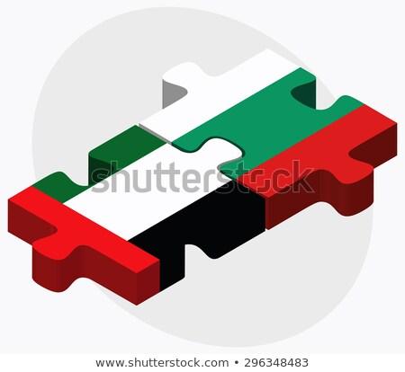 Объединенные Арабские Эмираты Болгария флагами головоломки вектора изображение Сток-фото © Istanbul2009