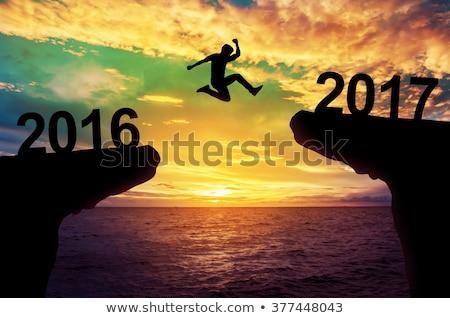 Szczęśliwy nowego 2016 działalności rok biznesmen Zdjęcia stock © stevanovicigor