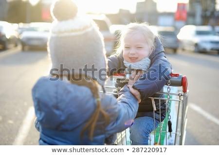 family on shop parking 2 stock photo © paha_l