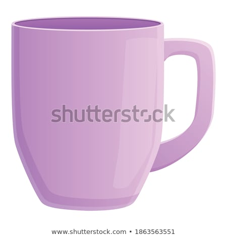 Beker violet vector icon ontwerp digitale Stockfoto © rizwanali3d
