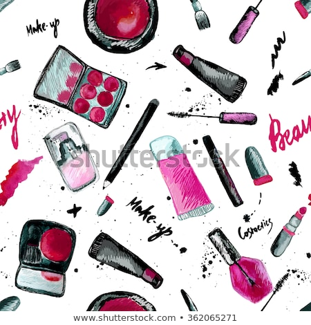 Glamorous make-up seamless pattern Stock photo © netkov1