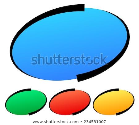 овальный кнопки серебро копия пространства изолированный белый Сток-фото © Bigalbaloo