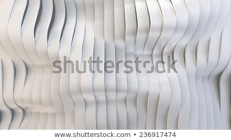 抽象的な 3D 波状の バンド 表面 赤 ストックフォト © klss