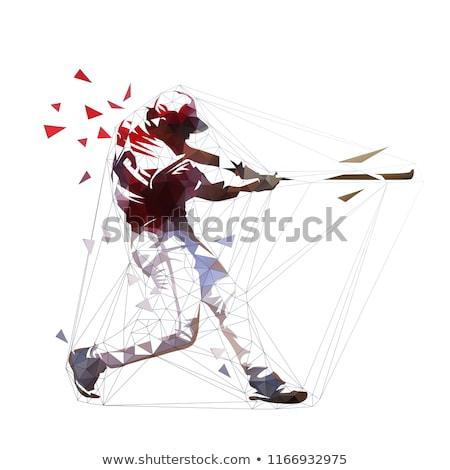 A simple drawing of a baseball player Stock photo © bluering