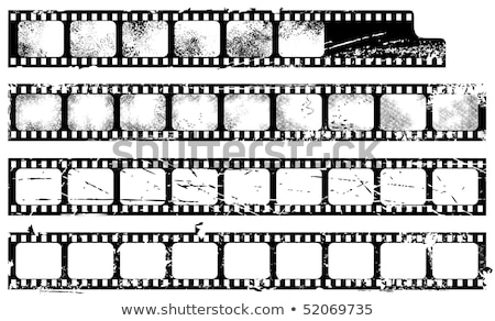 Eski grunge filmstrip gürültülü yalıtılmış beyaz Stok fotoğraf © Taigi