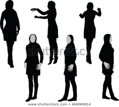 Arabic woman silhouette in doctor pose Stock photo © Istanbul2009