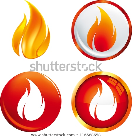 Buttons with flames Stock photo © bluering