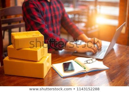 Ecommerce tavolo in legno parola business ufficio clock Foto d'archivio © fuzzbones0