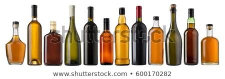 Brandy botella aislado blanco fondo beber Foto stock © kayros