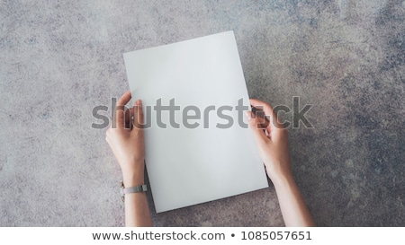 blank paper for advertisment stock photo © szefei