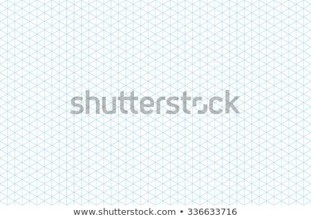 drótváz · 3D · kockák · végtelen · minta · absztrakt · fehér - stock fotó © beholdereye