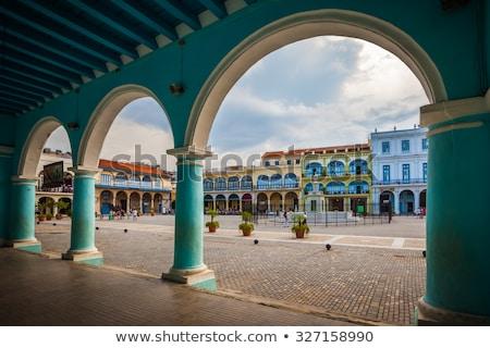 Oude Havanna Cuba gebouw reizen architectuur Stockfoto © phbcz