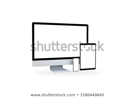 Blank monitor with shadow isolated on white background. Design e stock photo © masay256