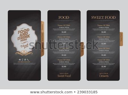 żywności pić retro papieru menu projektu Zdjęcia stock © Dimpens