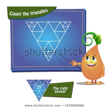 Count the triangles Stock photo © Olena