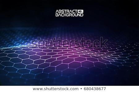 Vektor fraktál absztrakt űr szöveg fény Stock fotó © milsiart