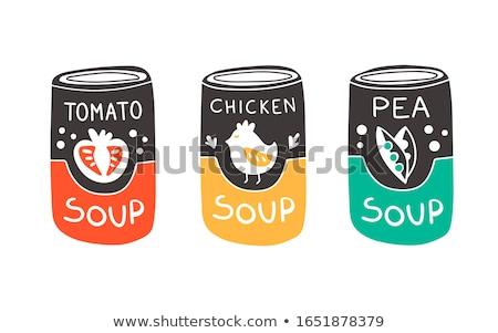 Sopa de verduras aluminio pueden ilustración alimentos fondo Foto stock © bluering