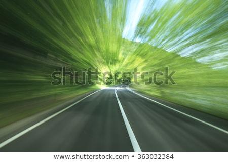 Montanha rural estrada madrugada belo cores Foto stock © taviphoto