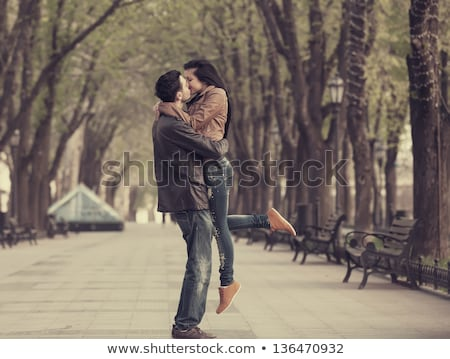 Couple kissing in the street Stock photo © IS2