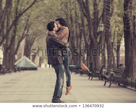целоваться · улице · любви · человека · пару - Сток-фото © is2