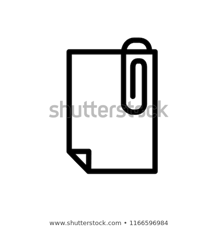 abstract attachment icon Stock photo © pathakdesigner