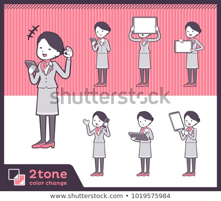 2tone type Cabin attendant women_set 06 Stock photo © toyotoyo