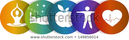 Healthy lifestyle colorful icons Stock photo © Genestro