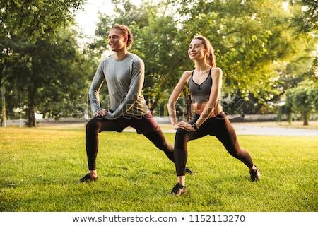 спорт · любящий · пару · друзей · парка · улице - Сток-фото © deandrobot