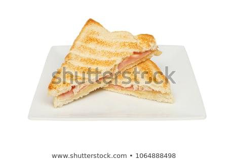 Stok fotoğraf: Tost · jambon · peynir · sıcak · taze · sandviç