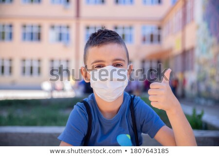 school boy White_sickness Stock photo © toyotoyo