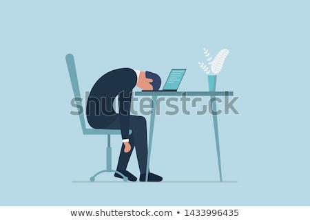 Cartoon vervelen man naar Stockfoto © cthoman
