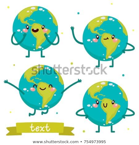 Happy Cartoon Earth Stock photo © cthoman