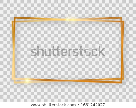 Fehér vékony négyszögletes keret árnyék terv Stock fotó © romvo