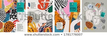 Modern Poster Set Vector. Background For Poster Design. Smear, Stripe. Colorful Backdrop. Minimalist Stock photo © pikepicture
