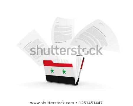 Map vlag Syrië bestanden geïsoleerd witte Stockfoto © MikhailMishchenko
