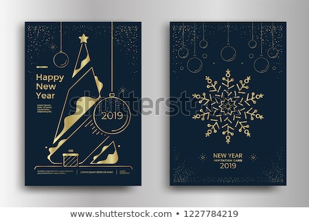 golden flyer design for christmas festival Stock photo © SArts