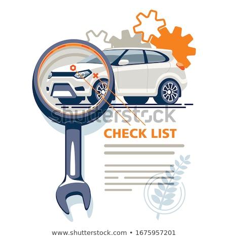 Voiture Ouvrir la infographie icônes réparation de voiture pneu Photo stock © -TAlex-