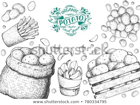 Stockfoto: French Fries In Package Poster Vector Illustration
