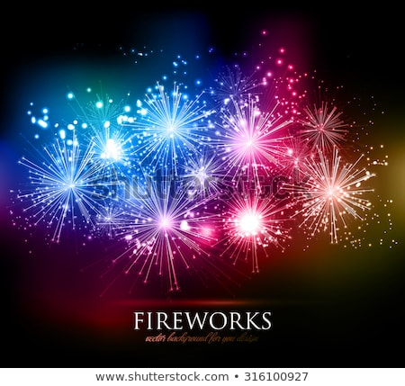 brilhante · vetor · fogos · de · artifício · conjunto · isolado · férias - foto stock © marysan