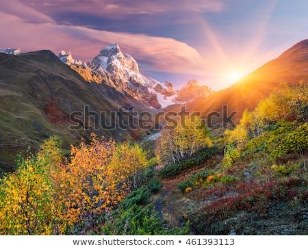Otono paisaje montanas Georgia nubes Foto stock © Kotenko
