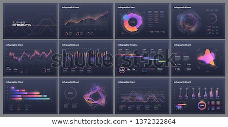 Duży danych app interfejs szablon laptop Zdjęcia stock © RAStudio