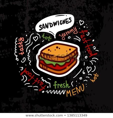color vintage fast food emblem stock photo © netkov1