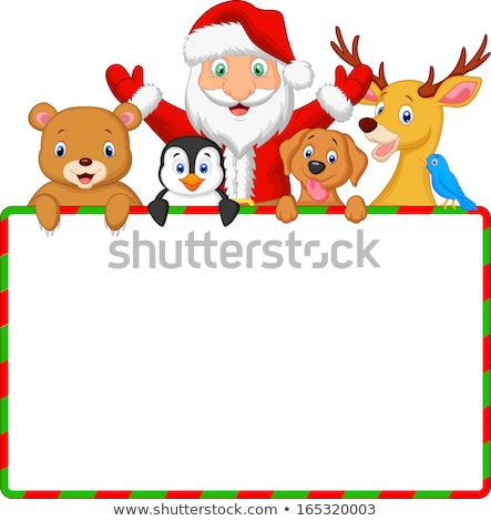 Smiling Blue Bird Cartoon Character Holding A Blank Sign Stock photo © hittoon